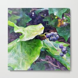 Ivy Berries Metal Print