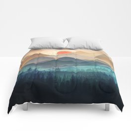 Wilderness Becomes Alive at Night Comforters