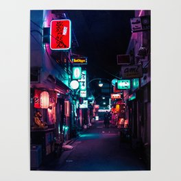 Late Night in Shinjuku's Golden Gai Poster