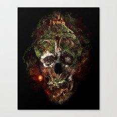 Skull Castle Canvas Print
