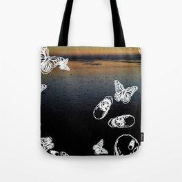 Beach noir Tote Bag