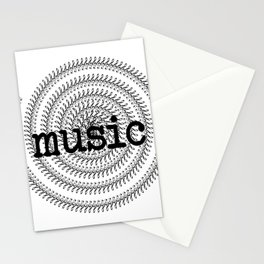 Sol keys and music Stationery Cards