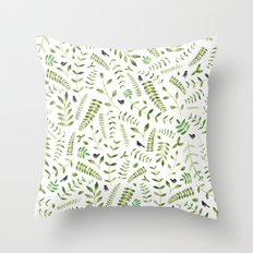 The Birds and the Leaves Throw Pillow