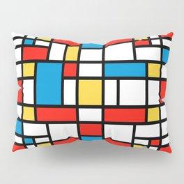 Mondrian design, abstract pattern Pillow Sham