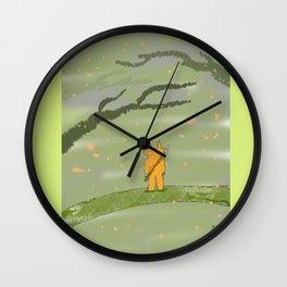 Diable en forêt Wall Clock