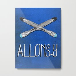 Allons-y! with Sonic Screwdrivers from Doctor Who Metal Print