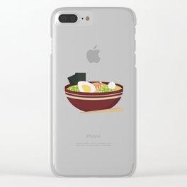 Ramen bowl Clear iPhone Case