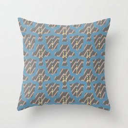 Ornament from smooth lines and polka dots. Throw Pillow