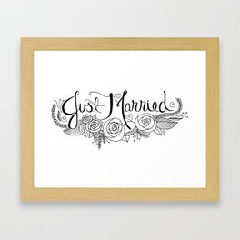 Just Married Framed Art Print