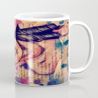 agnes cecile Mugs featuring Agnes Mackenzie by Olga Noes