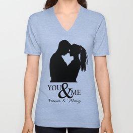 Couple T Shirts - You & me Unisex V-Neck