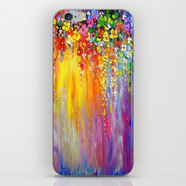 Symphony of flowers iPhone Skin
