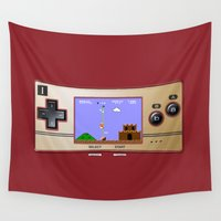 gameboy Wall Tapestries featuring Gameboy Micro Classic by alifart