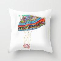 boho Throw Pillows featuring Boho by Rayna Sevilla