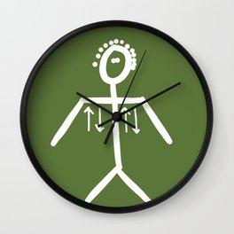 just shrug Wall Clock