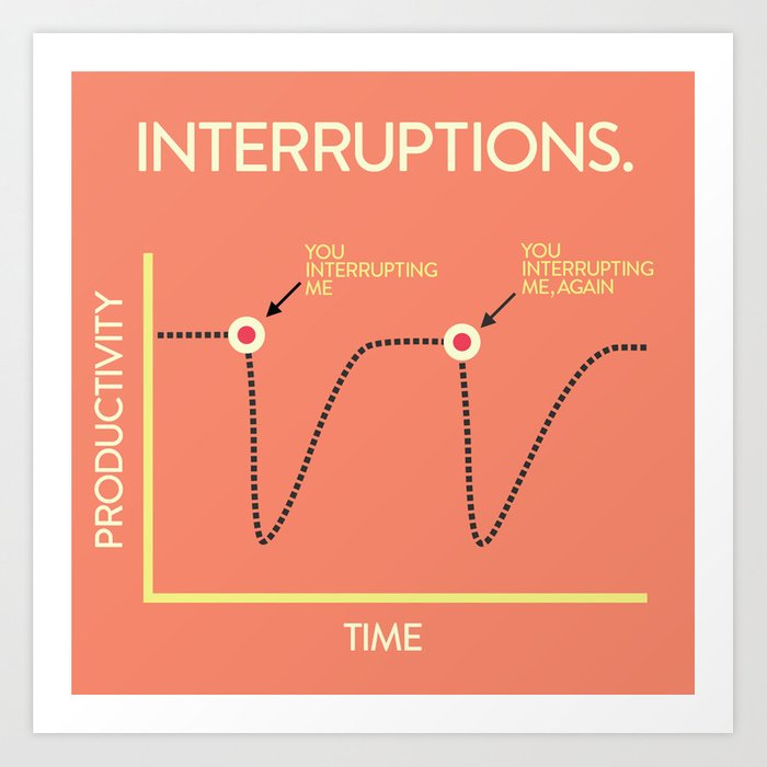 Interruptions Art Print