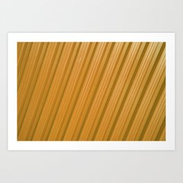 Stripes II - Golden Art Print