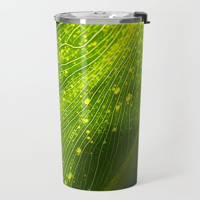 Spotted Leaf Travel Mug