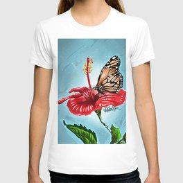 Butterfly on flower 2 T-shirt