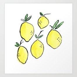 Citrons Art Print