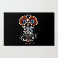 mexican Canvas Prints featuring Mexican Owl by Msimioni