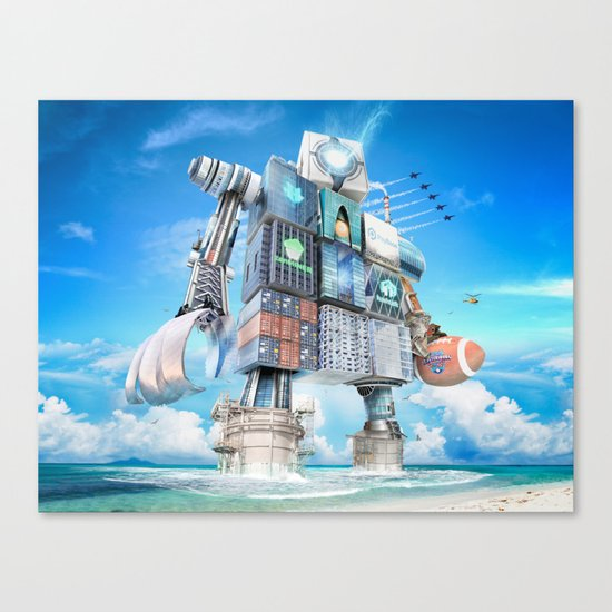 The Bitcoin Gameday Machine Canvas Print