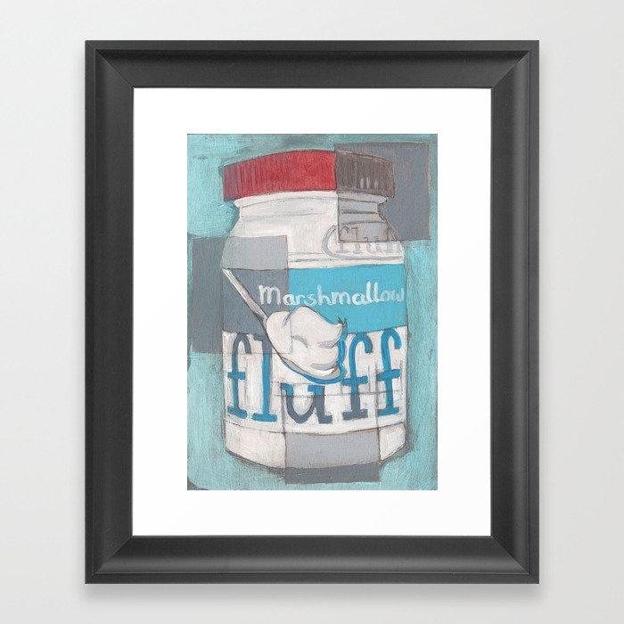 Marshmallow Fluff Jar Gerahmter Kunstdruck