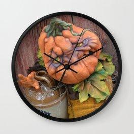 Rucus Studio Delmar the Drunkin Punkin Wall Clock
