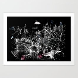 Tower Bridge Black and White Art Print