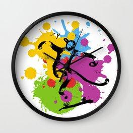 Abstract skater Wall Clock