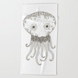 Cracked Octopus Beach Towel