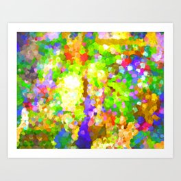 A Sparkling Delight In The World Of Color Art Print