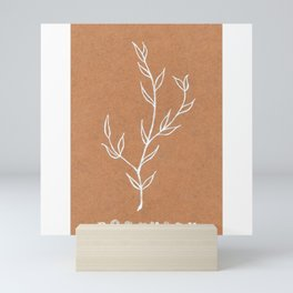 Rosemary Herb Art Print — Botanical design — Rosemary White Ink Design — Culinary Art Mini Art Print