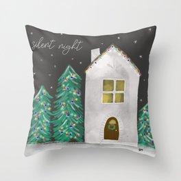 Silent Night Throw Pillow