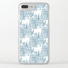 Buildings in Blue Clear iPhone Case