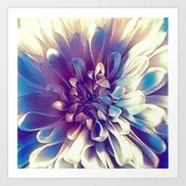 Lavender Blue Flower Design Art Print