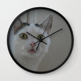 Green eyes Wall Clock