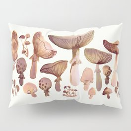 Watercolor Mushrooms Pillow Sham