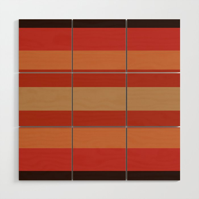 Earthy Terracotta - Color Therapy Wood Wall Art by desertsart   Society6