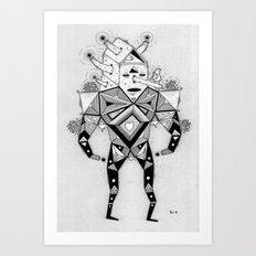 birdhouse head Art Print