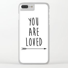 You Are Loved Printable Art, Nursery Art, Black and White Art, Arrow Art, You are So Loved Word Art, Clear iPhone Case