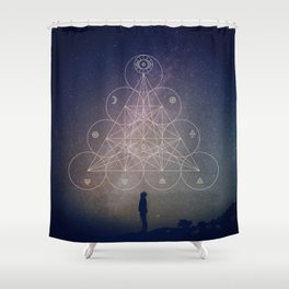 Alchemical Tetractys Shower Curtain