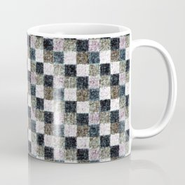 Rustic Mauve Brown and Black Patchwork Coffee Mug