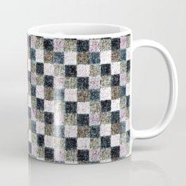 Rustic Mauve Brown and Black Patchwork Coffee Mug