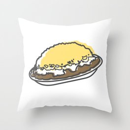 Skyline Chili Three Way Throw Pillow