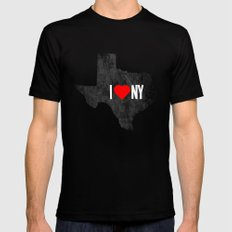 I (Heart) TX MEDIUM Mens Fitted Tee Black