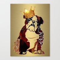 english bulldog Canvas Prints featuring English Bulldog by marvinblaine