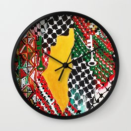 Palestine (The Key) Wall Clock