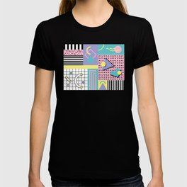 Memphis Pattern 27 - 80s - 90s Retro / 1st year anniversary design T-shirt