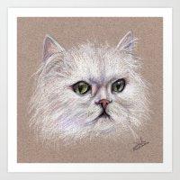 persian Art Prints featuring Persian cat by Pendientera
